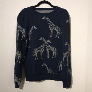 Novelty giraffe print long sleeve